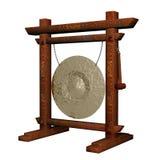 gammal asiatisk gong Arkivfoton