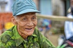 Gammal asiatisk man Fotografering för Bildbyråer