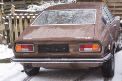 Gammal Audi 100 kupé S Arkivfoton