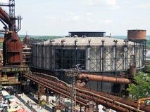 Gammal avlagd gasklockaGong i Tjeckien Royaltyfri Foto