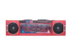 Gammal bärbar kassettspelare royaltyfria bilder