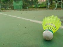 Gammal badmintonboll Royaltyfri Bild