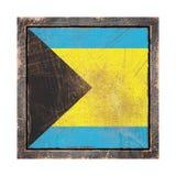 Gammal Bahamas flagga Arkivbild
