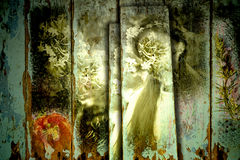 Gammal bakgrund för fe och för blommor Royaltyfri Bild
