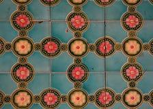 Gammal bakgrund för keramiska tegelplattor arkivbilder