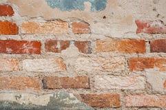 Gammal bakgrund för kvarter för tegelstenvägg Arkivfoton