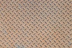 Gammal bakgrund för metalldiamantplatta Royaltyfria Foton