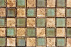 Gammal bakgrund för modell för keramisk tegelplatta för vägg Arkivfoto