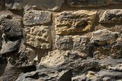 Gammal bakgrund för stenvägg Royaltyfri Fotografi