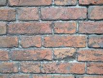Gammal bakgrund för textur för vägg för röd tegelsten, material arkivfoto