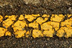 Gammal bakgrund för vägen texturerar långt Fotografering för Bildbyråer