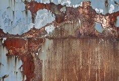 gammal bakgrundsmetall Grov metallyttersida som är rostig och Royaltyfria Bilder