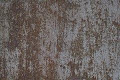 gammal bakgrundsmetall Grov metallyttersida som är rostig och Royaltyfria Foton