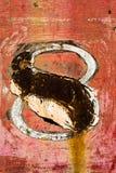 Gammal bakgrundstextur för metall rostiga röda 8 Royaltyfria Bilder