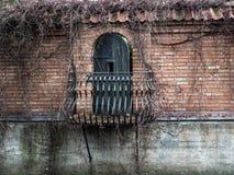 Gammal balkong Royaltyfri Foto