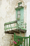 gammal balkongdörr royaltyfria foton
