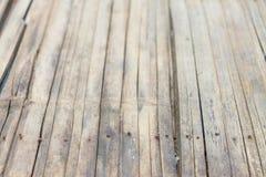 Gammal bambubakgrundstextur Royaltyfri Fotografi