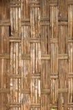 Gammal bambuvägg Royaltyfri Bild