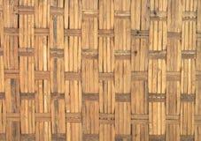 Gammal bambuvägg Arkivfoto