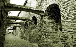 gammal bana för stad Arkivbild