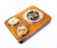gammal barometer Fotografering för Bildbyråer