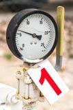 Gammal barometer Royaltyfri Foto