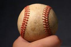 gammal baseball royaltyfri fotografi