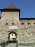 Gammal befästning i den Lviv staden Arkivbilder