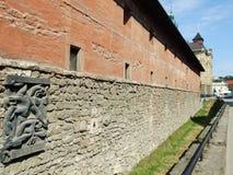 Gammal befästning i den Lviv staden Royaltyfria Foton