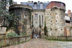 Gammal befästning i Rennes, Frankrike Royaltyfria Foton