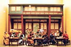 gammal beijing lerafigurine Royaltyfri Bild