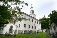 gammal bennington kyrka först royaltyfri bild