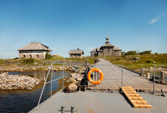 Gammal berömd historisk skeppsdocka av den nordiska ön Arkivbilder