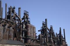Gammal Bethlehem Steel fabrik i Pennsylvania Arkivbild