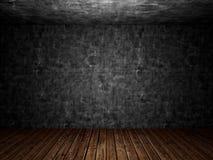 Gammal betong smutsigt övergett rum arkivbilder