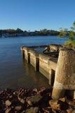 Gammal betonggrund Fotografering för Bildbyråer