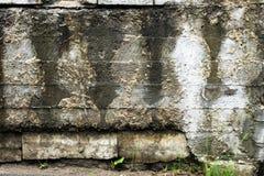 Gammal betongv?gg, med konturer royaltyfria bilder