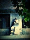 Gammal Bhuddha staty i den gamla templet, Songkhla, Thailand Arkivbilder