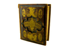 gammal bibelfamiljframdel Royaltyfri Fotografi