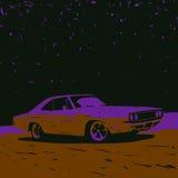 gammal bil stock illustrationer