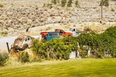 Gammal bil och lastbil Fotografering för Bildbyråer