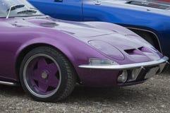Gammal bil som är retro, closeup royaltyfri fotografi