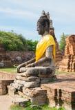 Gammal bild av buddha på den gamla templet Royaltyfria Bilder