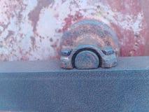 Gammal bild för metalltexturbakgrund arkivbild