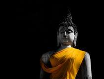 Gammal bild för stilleben av buddha; mörker och ljus av bilden av buddha Royaltyfria Foton
