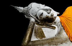Gammal bild för stilleben av buddha på den gamla templet Arkivbilder