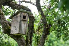Gammal birdhouse Arkivbilder