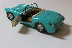 Gammal blå mini- bil, Cabriolet Arkivfoton