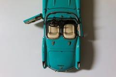 Gammal blå mini- bil, Cabriolet Fotografering för Bildbyråer