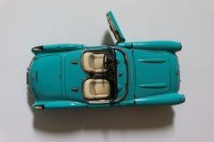 Gammal blå mini- bil, Cabriolet Royaltyfri Fotografi